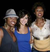 Tanisha Scott, Romina D'Ugo and Annmarie Morais at the premiere of