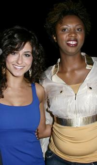 Romina D'Ugo and Annmarie Morais at the premiere of