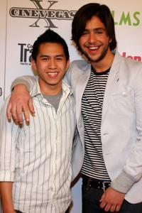 Jeremy Chu and Josh Peck at the screening of
