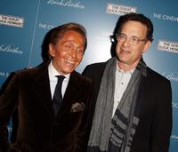 Valentino Garavani and Tom Hanks at the screening of