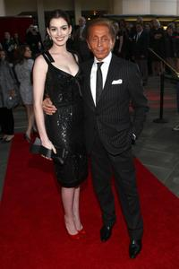 Anne Hathaway and Valentino Garavani at the Los Angeles premiere of