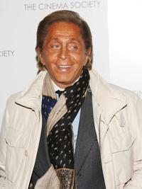 Valentino Garavani at the special screening of