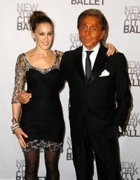 Sarah Jessica Parker and Valentino Garavani at the opening night celebration of New York City Ballet.