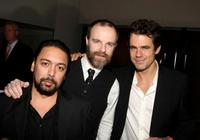 Felix Solis, Brian O'Byrne and Tom Tykwer at the after party of the screening of