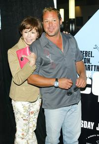 Neile Adams and Chad McQueen at the screening of