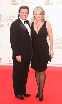 Ian Mc Shane and his wife at the closing ceremony of the 45th Television festival of Monte Carlo.