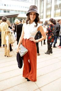 Abigail Spencer at the Malandrino Spring 2011 Fashion show during the Mercedes-Benz Fashion Week.