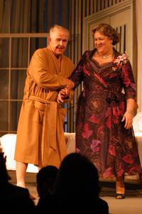 Ned Beatty and Margo Martindale at the curtain call for