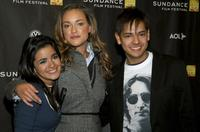 Paulina Gaitan, Alicja Bachleda-Curus and Cesar Ramos at the premiere of