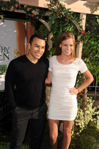 Joseph Julian Soria and Chloe Lanier at the California premiere of