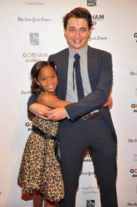 Quvenzhane Wallis and Benh Zeitlin at the IFP's 22nd Annual Gotham Independent Film Awards in New York.