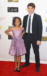 Quvenzhane Wallis and Benh Zeitlin at the 18th Annual Critics' Choice Movie Awards in California.
