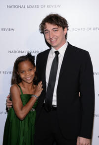 Quvenzhane Wallis and Benh Zeitlin at the 2013 National Board Of Review Awards in New York.