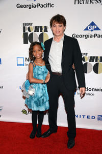 Quvenzhane Wallis and Benh Zeitlin at the Ebony Power 100 Gala in New York.