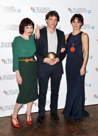 Hannah McGill, Benh Zeitlin and Helen McCrory at the Sutherland Awards during the 56th BFI London Film Festival.