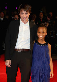 Benh Zeitlin and Quvenzhane Wallis at the premiere of