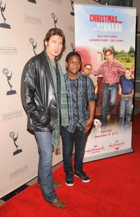 Billy Ray Cyrus and Jaishon Fisher at the screening of