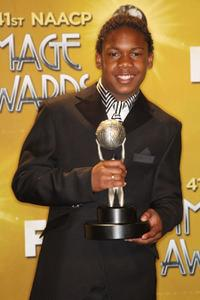 Jaishon Fisher at the 41st Annual NAACP Image Awards.