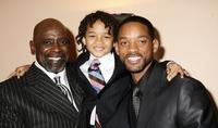 Chris Gardner, Jaden Smith and Will Smith at the UK premiere of