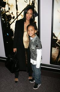 Jada Pinkett Smith and Jaden Smith at the BET studio following a taping of