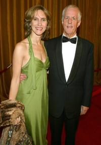 Dana Stevens and Michael Apted at the 57th Annual DGA Awards.
