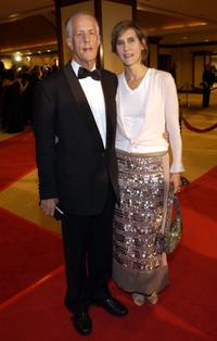Michael Apted and Dana Stevens at the 56th Annual DGA Awards.
