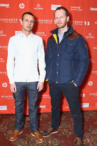 Anders Danielsen Lie and director Joachim Trier at the premiere of