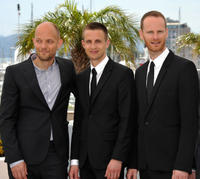 Writer Eskil Vogt, Anders Danielsen Lie and director Joachim Trier at the photocall of