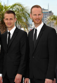 Anders Danielsen Lie and director Joachim Trier at the photocall of