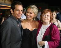 Ben Stiller, Christine Taylor and Anne Meara at the premiere of