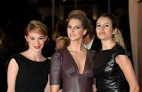 Deborah Francois, Frederique Bel and Louise Monot at the screening of
