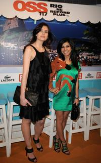 Louise Monot and Reem Kherici at the Paris premiere of