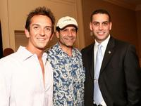 Sean Huze, Tony Shalhoub and Derek Blumke at the Campaign For A New GI Bill.