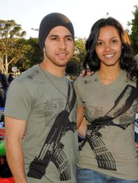 Walter Perez and Jessica Lucas at the Invisible Children's The Rescue Rally.
