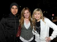 Walter Perez, Molly Burnett and Jennette McCurdy at the Invisible Children's The Rescue Rally.