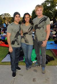 Walter Perez, Jessica Lucas and Ryan Hanse at the Invisible Children's The Rescue Rally.