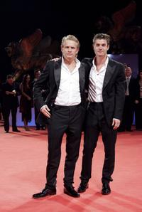 Jeremie Renier and Yannick Renier at the premiere of
