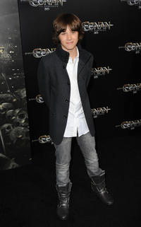 Leo Howard at the world premiere of