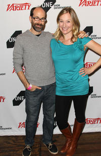 Brian Huskey and Rachel Drummond at the 2011 One Show Entertainment Awards in California.