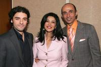 Oscar Isaac, Shohreh Aghdashloo and Shaun Toub at the premiere of