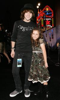 Mitchel Muso and Ryan Newman at the premiere of
