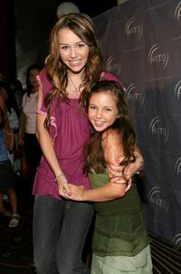 Miley Cyrus and Ryan Newman at the Hollywood Radio & Television Society