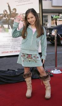 Ryan Newman at the premiere of