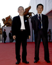 Producer Suzuki Toshio and director Goro Miyazaki at the premiere of