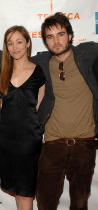 Autumn Reeser and Justin Mentell at the New York premiere of
