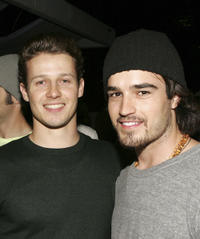 Will Estes and Justin Mentell at the after party of the California premiere of