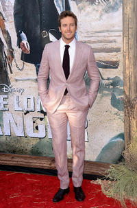 Armie Hammer at the premiere of