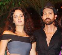 Kangana Ranaut and Hrithik Roshan at the TV show