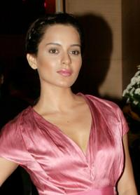 Kangana Ranaut at the party in Mumbai.