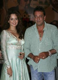 Kangana Ranaut and Sanjay Dutt at the Iftar party in Mumbai.